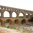 View of Pont Du Gard in France - Stock Photo