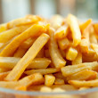 Pile of baked french fries — Stock Photo