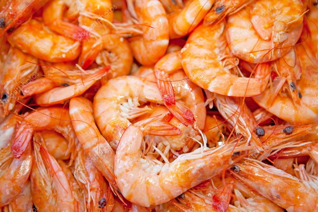 Cooked shrimp — Stock Photo © sannie32 #3648986