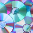 Background of compact disc-CDs — Stock Photo