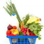 Filled shopping basket — Stock Photo