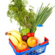 Filled shopping basket — Stockfoto