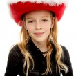 Girl with christmas hat — Stock Photo #3777890