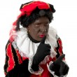 Zwarte piet ( black pete) typical Dutch character — 图库照片