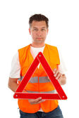 Man in safety vest — Stock Photo