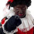 Zwarte piet ( black pete) typical Dutch character — Stock Photo #3861407