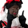 Zwarte piet ( black pete) typical Dutch character — Foto Stock