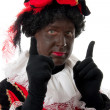 Zwarte piet ( black pete) typical Dutch character — Photo