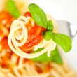 Royalty-Free Stock Photo: Spaghetti with tomato sauce