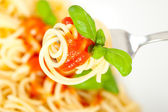 Spaghetti with tomato sauce — Stock Photo