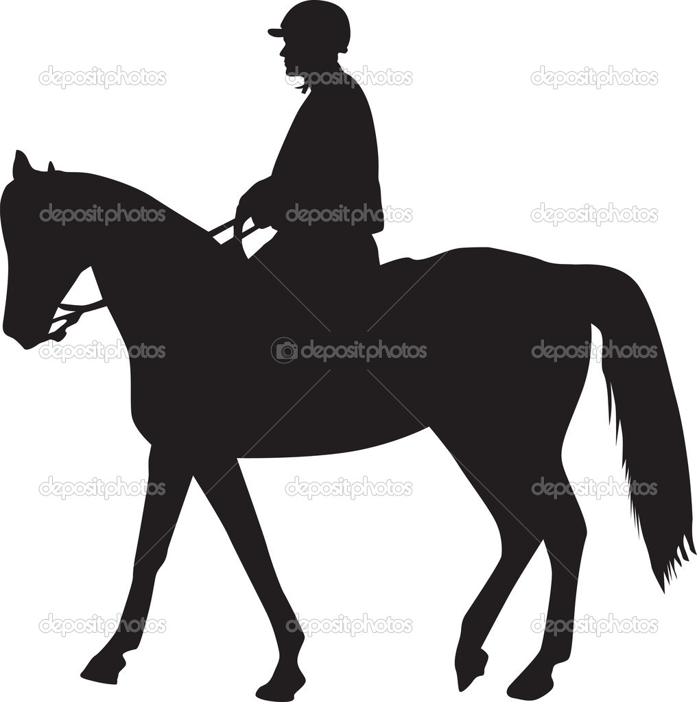 Man The Horse Silhouette Vector Stock Goran Bradic
