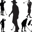 Golf silhouette vector — Stock Vector #3103412