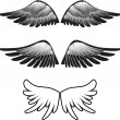 Tattoo wings silhouette vector — Stock Vector