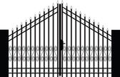 Vetor silhueta de portão — Vetor de Stock