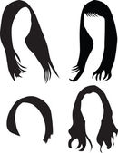 Women hair silhouette vector — Stock Vector
