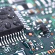 Wet circuit board - Stock Photo