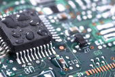 Wet circuit board — Stock Photo