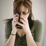 Stylish woman drinking — Stock Photo