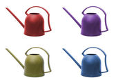 Four watering cans — Stock Photo