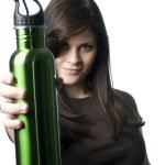 Reusable water bottle — Stock Photo