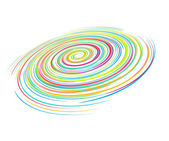 Rainbow wave line — Stock Vector