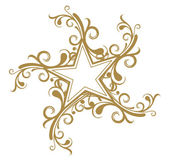 Floral star design — Stock Vector