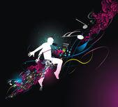Dancing man — Stock Vector