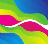 Onda de colores del arco iris resumen — Vector de stock