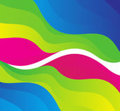 抽象彩虹色波 — 图库矢量图片