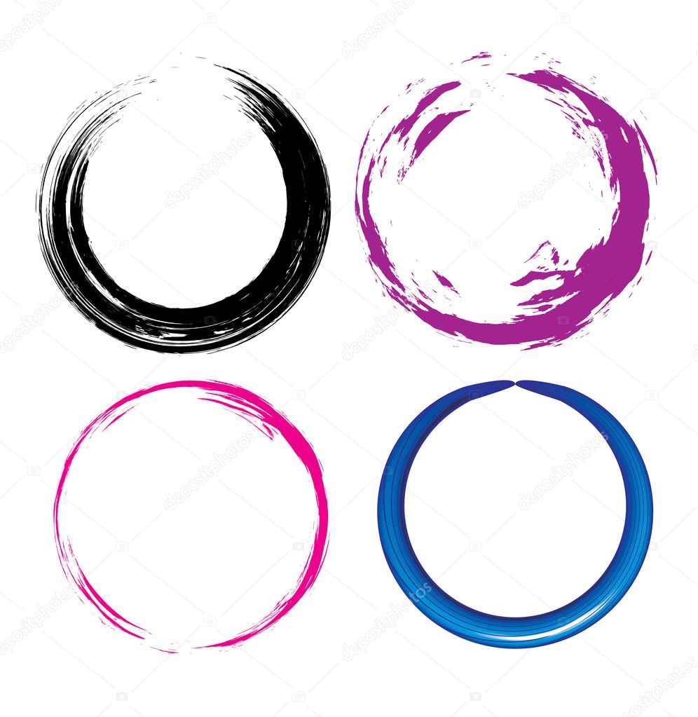  four different Grunge circle with place for your text. vector illustration  Stock Vector #2757319