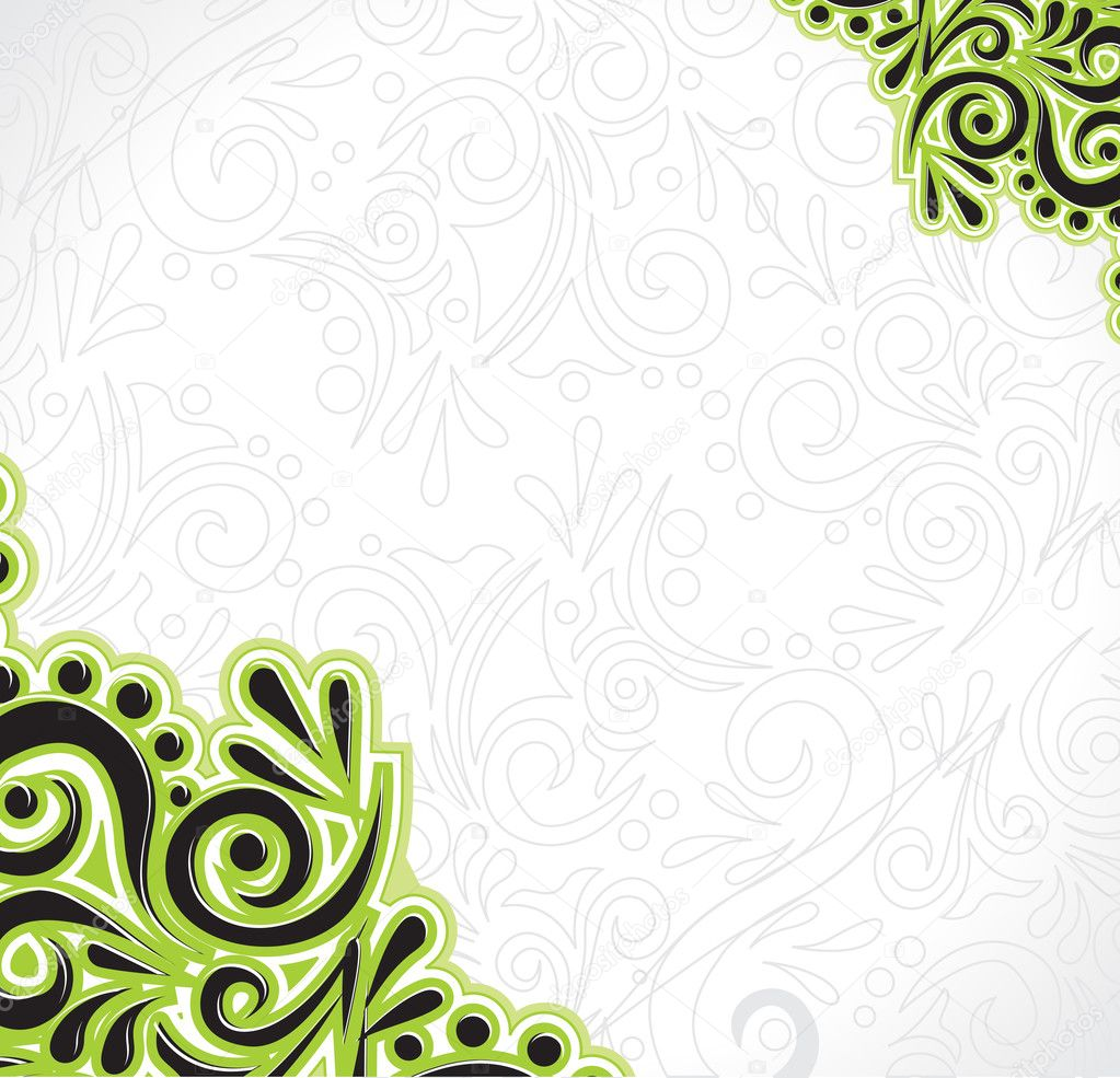 Abstract floral pattern, highly detailed seamless design, vector illustration.  Stock Vector #2757490