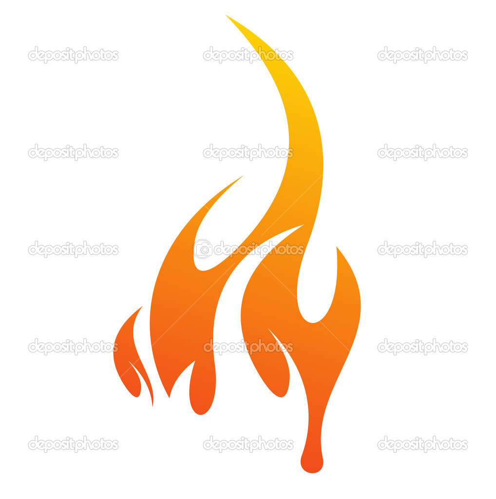 Abstract fire icon with white background, vector illustration — Stock Vector #2758081