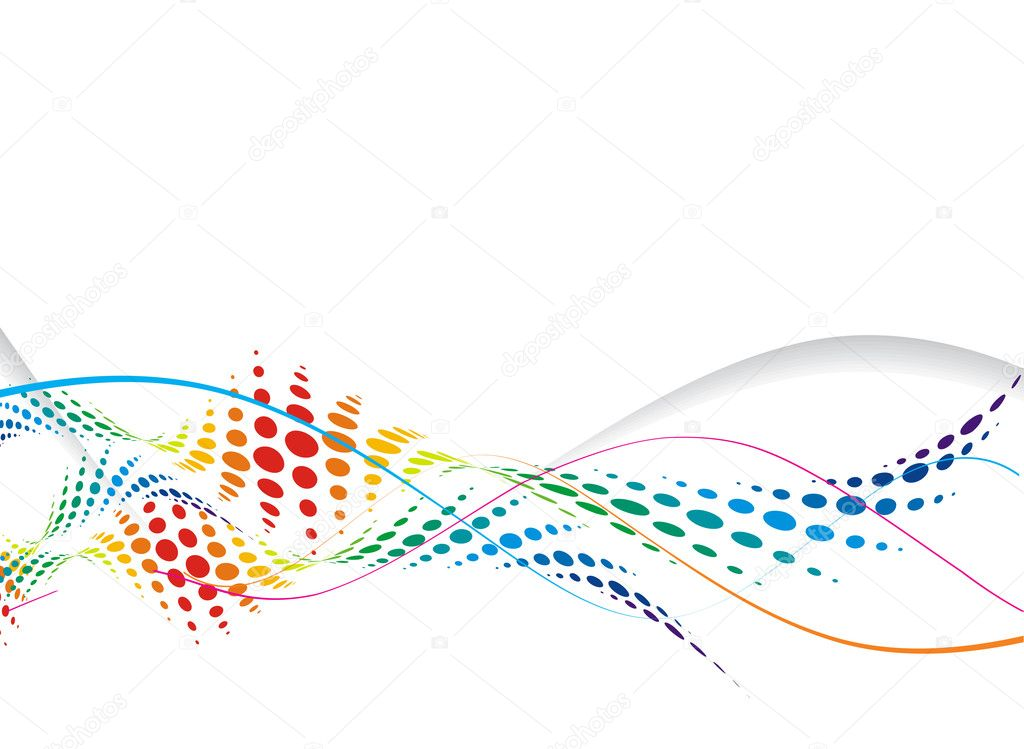 Abstract wave line background with space of your text, vector illustration,  — Stock Vector #2758581