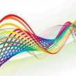 Abstract rainbow wave line - Stock Vector