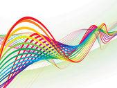 抽象的な虹波ライン — ストックベクタ