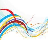 Linha de onda abstrata do arco-íris — Vetor de Stock