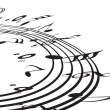Royalty-Free Stock Imagen vectorial: Music notes