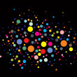 Disco lights dots — Stockvectorbeeld