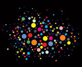 Disco lights dots — Stock Vector