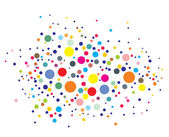 Disco lights dots — Stock Vector