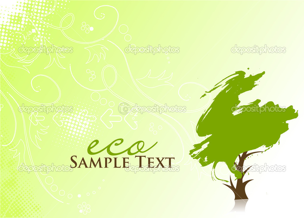 Tree Plan Vector Hand Darw Vector Green Tree on