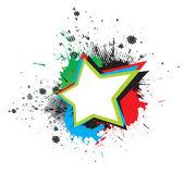Grunge star — Stock Vector