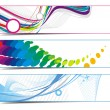 Stock Vector: Abstract vibrant banners