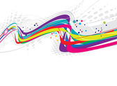 Abstract rainbow wave line — Stock Vector