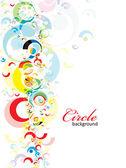 Fondo del círculo — Vector de stock