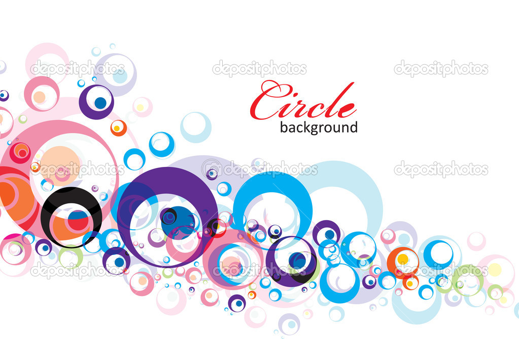 Intensive rainbow colors circle background with eps8, vector illustration. — Stock Vector #3372847