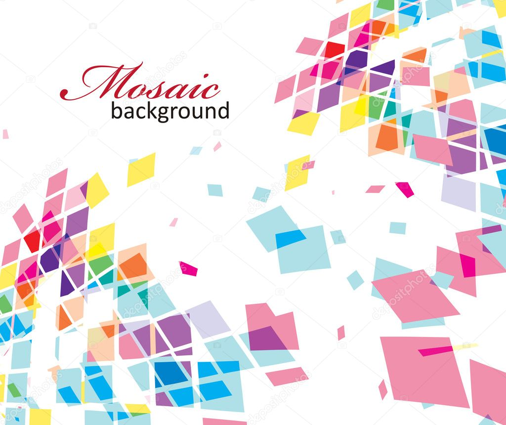 Abstract mosaic vector composition for more background of this type please visit my gallery — Stock Vector #3373130