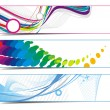 Royalty-Free Stock Vector Image: Abstract vibrant banners