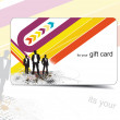 Beautiful gift card — Imagen vectorial
