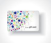 Beautiful gift card — Stock Vector